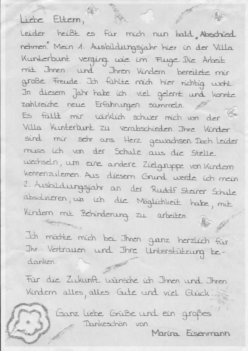 Brief An Eltern Schreiben