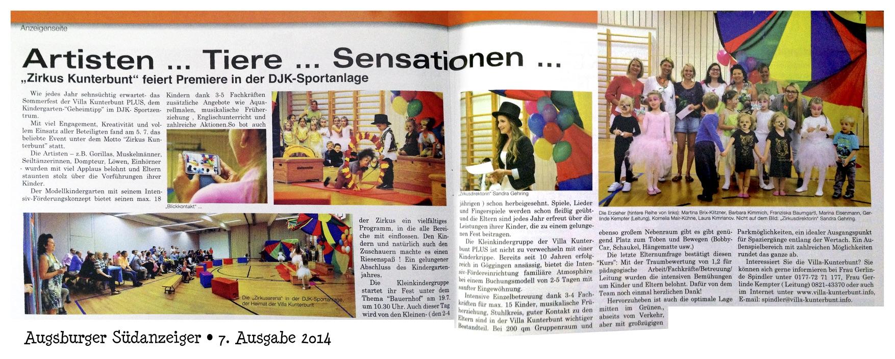 Kindergarten-Sommerfest der Villa Kunterbunt 2014