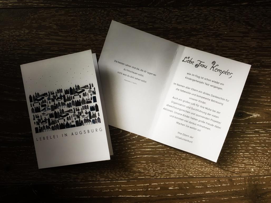 Dankesbrief der Eltern der Villa Kunterbunt PLUS